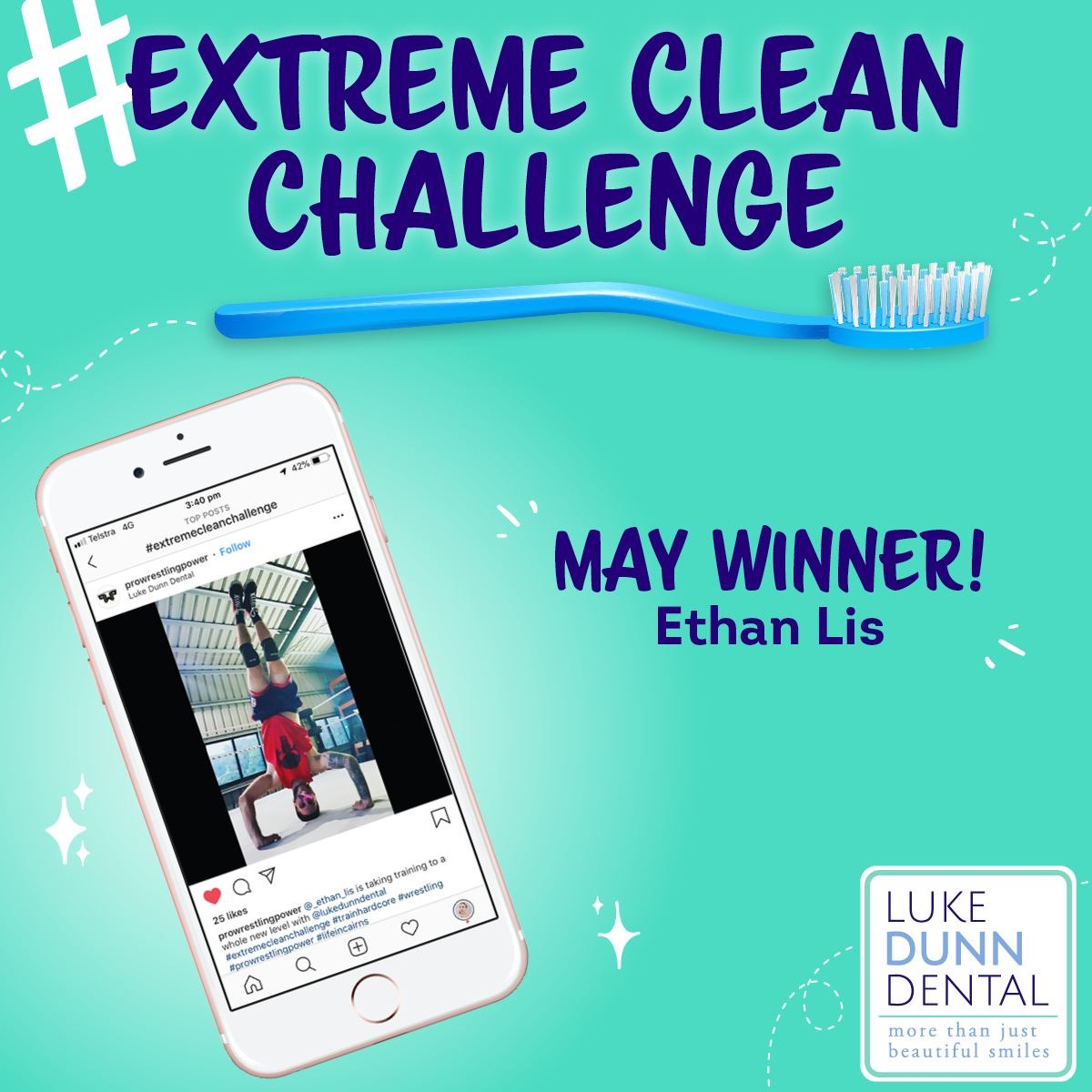 Ethan Lis Extreme Clean Challenge May Winner